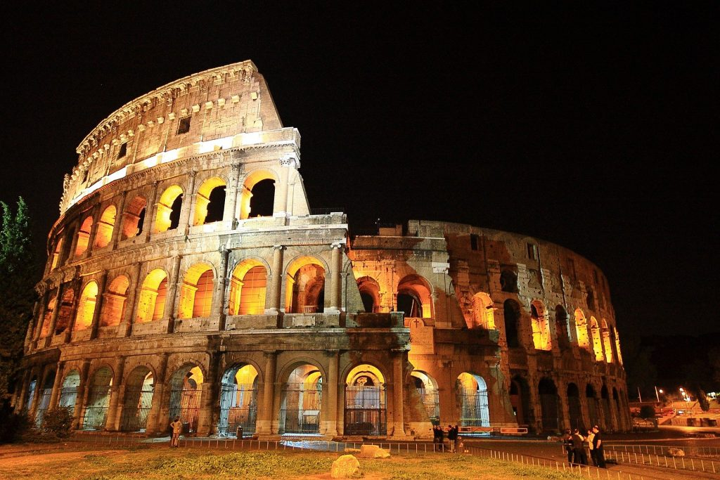 The Colosseum is a symbol of Ancient Rome.