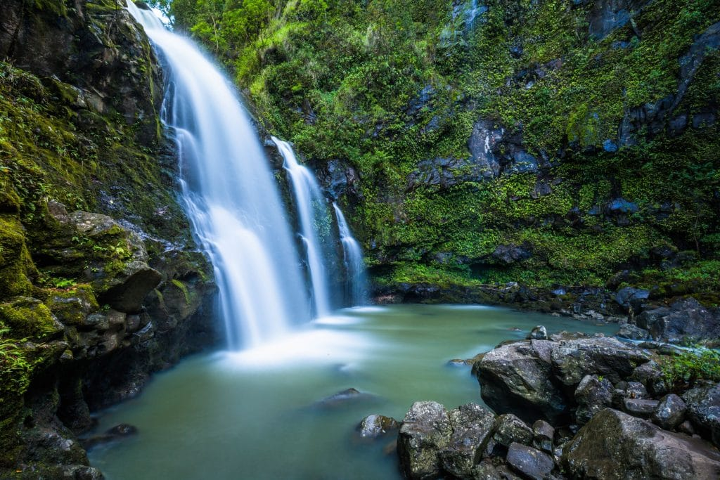 Upper Waikani Falls is a must-visit.