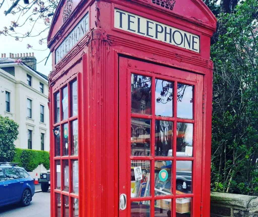 Lewisham Phone Booth Book Exchange is a quaint spot for book lovers.