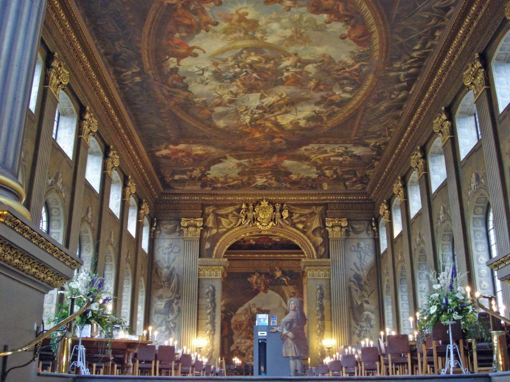 The Painted Hall is a stunning capture of Baroque history.