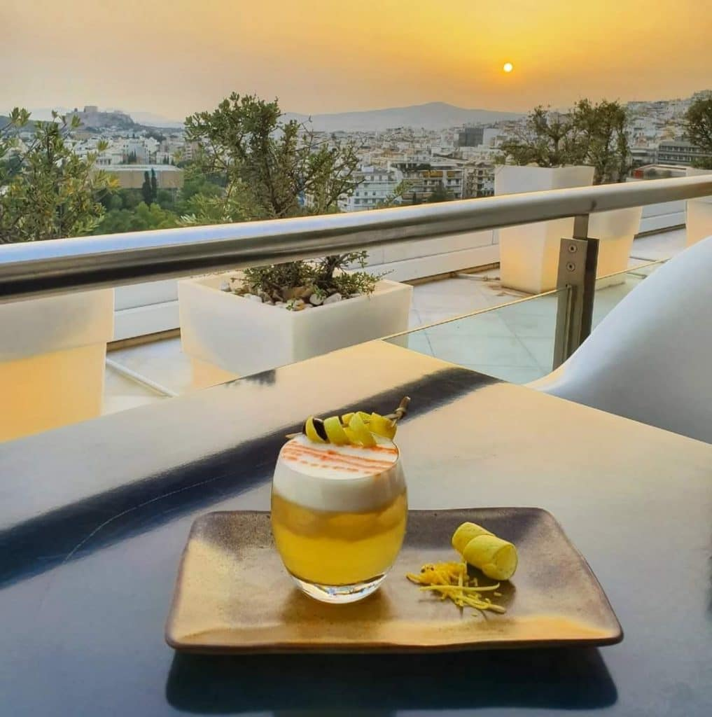 Galaxy Restaurant and Bar is one of the best rooftop bars in Athens.