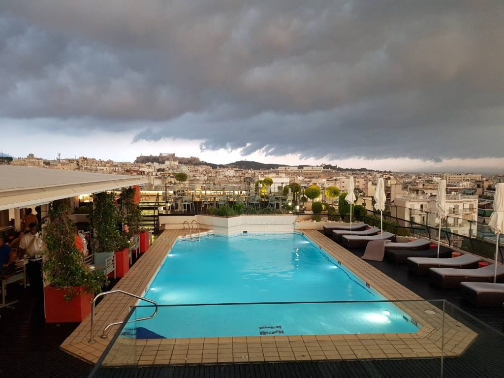 Hotel Novotel Athens is one of the best rooftop bars in Athens.