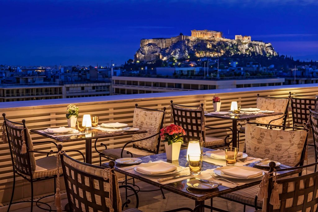 Tudor Hall Restaurant is one of the best rooftop bars in Athens.