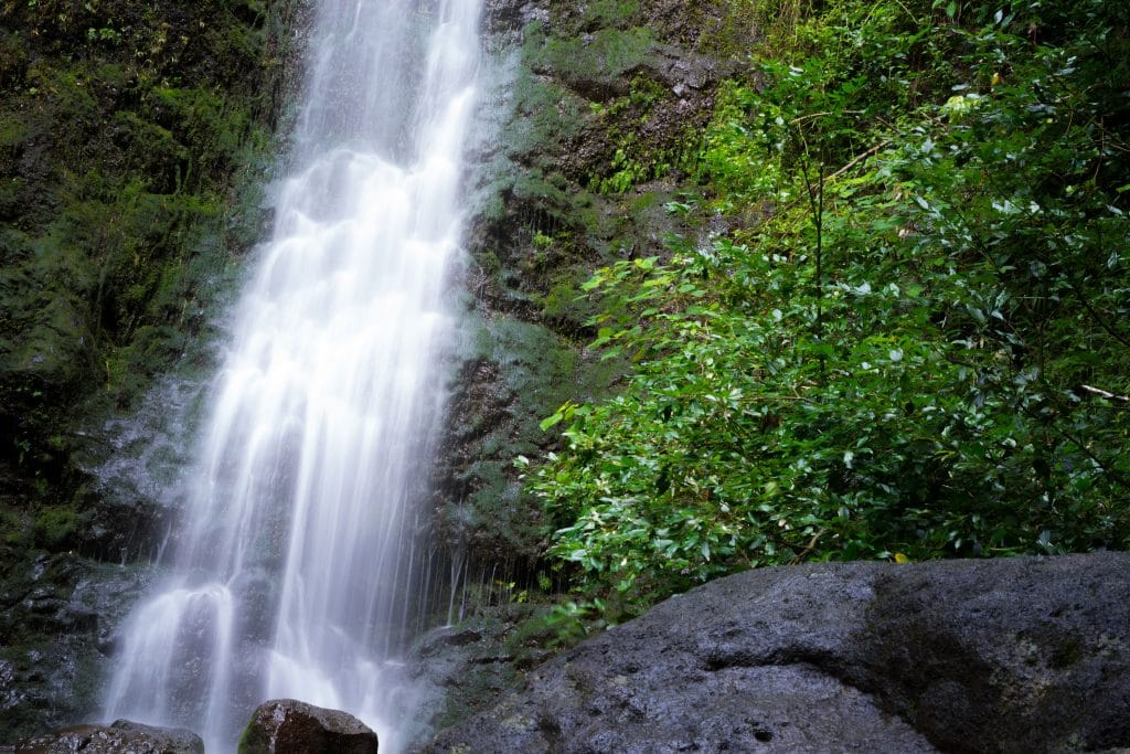 Lulumahu Falls is off the beaten track.