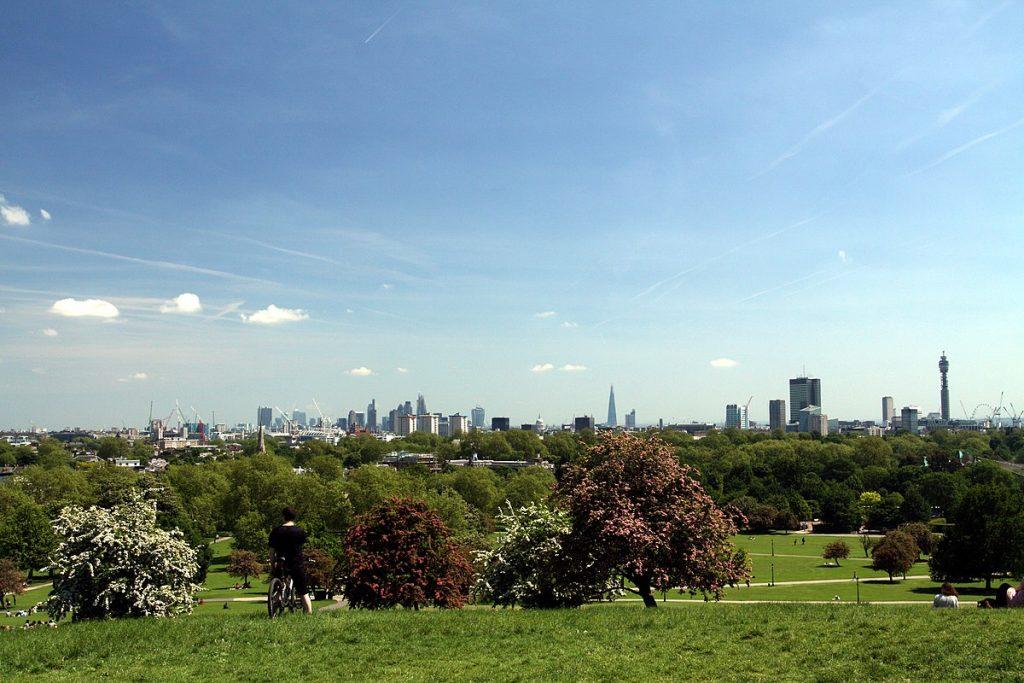 Primrose Hill captures incredible views of London.