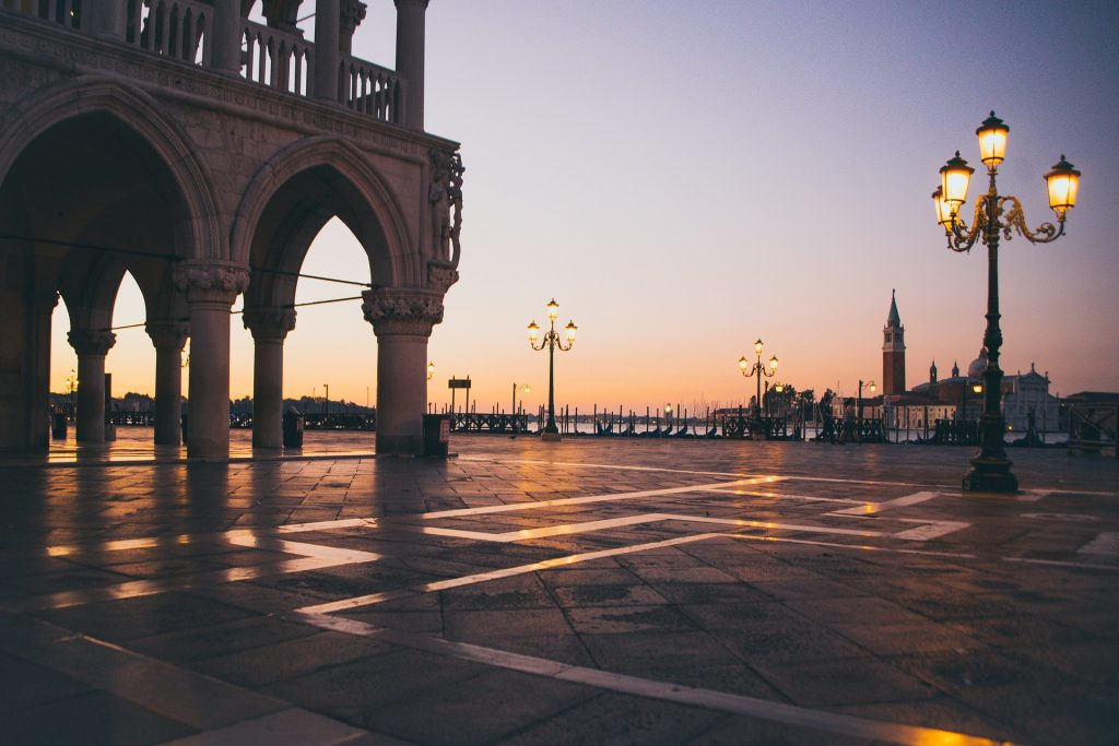 Witness the sun come up on a day in Venice from St Mark's Square.