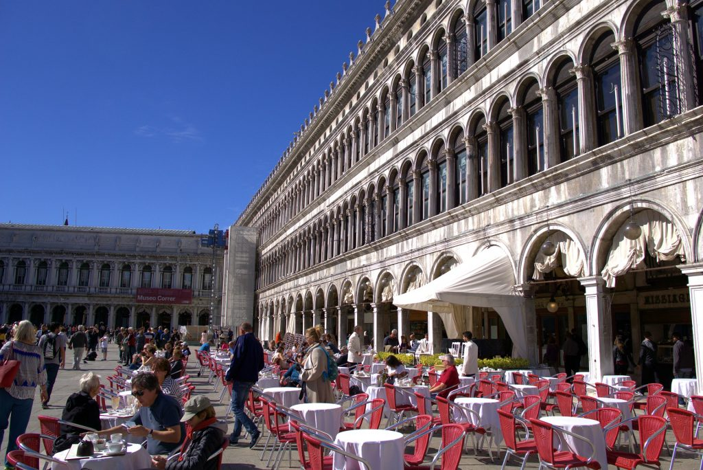 Start off a day in Venice with coffee at Gran Caffè Lavena.