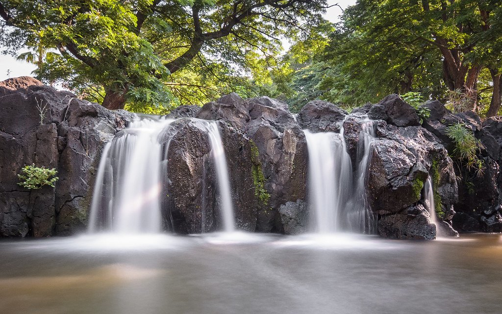 Waikahalulu Falls is one of the best waterfalls in Oahu.